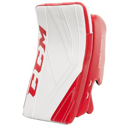 White/Red (CCM Premier II Pro Goalie Blocker)