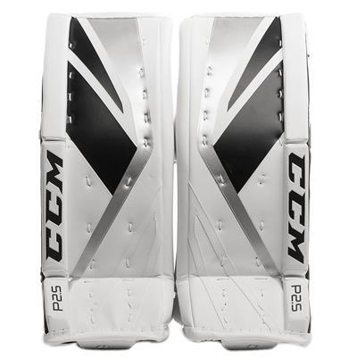 White/Black/Silver (CCM Premier P2.5 Goalie Leg Pads)