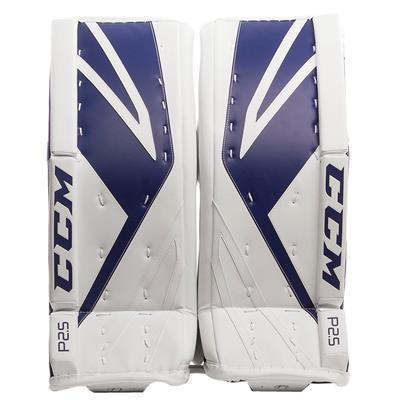 White/Blue (CCM Premier P2.5 Goalie Leg Pads)