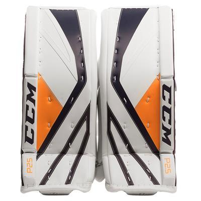 White/Navy/Gold (CCM Premier P2.5 Goalie Leg Pads)