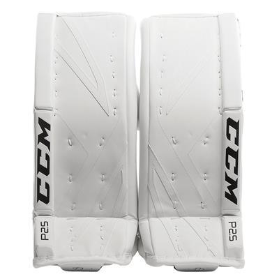 White/White (CCM Premier P2.5 Goalie Leg Pads)
