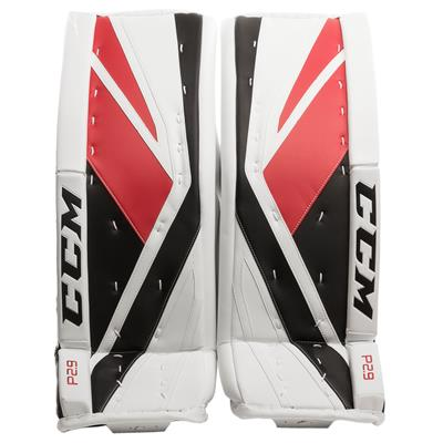White/Red/Black (CCM Premier P2.9 Goalie Leg Pads)