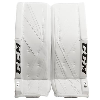 White/White (CCM Premier P2.9 Goalie Leg Pads)