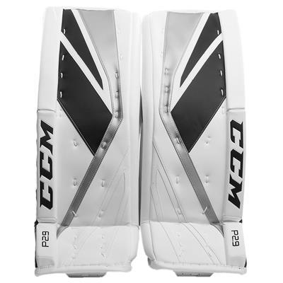 White/Black/Silver (CCM Premier P2.9 Goalie Leg Pads - Senior)