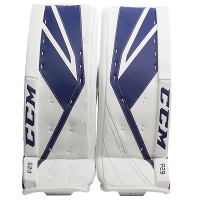 White/Blue (CCM Premier P2.9 Goalie Leg Pads - Senior)