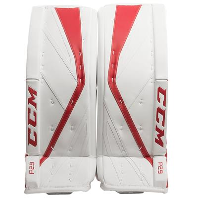 White/Red (CCM Premier P2.9 Goalie Leg Pads)