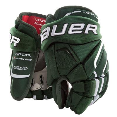 Forest Green/White (Bauer Vapor Matrix Pro Hockey Gloves - 2017 - Junior)