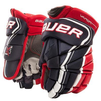 Navy/Red/White (Bauer Vapor 1X Lite Hockey Gloves - Senior)