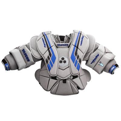 Grey/Black/Blue (Vaughn Velocity VE8 XFP Goalie Chest and Arm Protector - Intermediate)