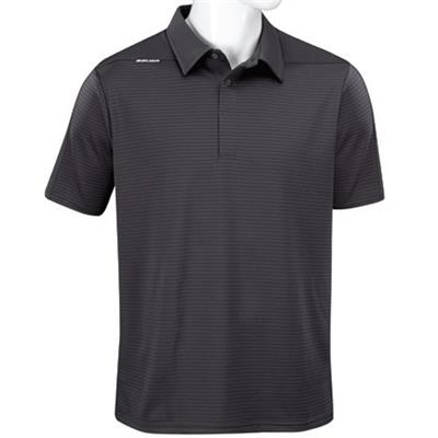 Grey (Bauer Short Sleeve Striped Sport Polo - Grey - Mens)