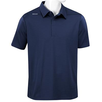 Navy (Bauer Short Sleeve Striped Sport Polo - Navy - Mens)