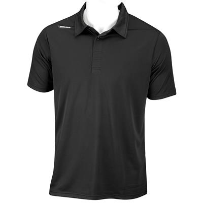 Black (Bauer Short Sleeve Sport Polo - Black - Mens)
