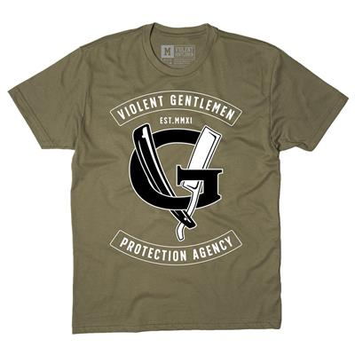 (Violent Gentlemen Agency Tee - Military Green)