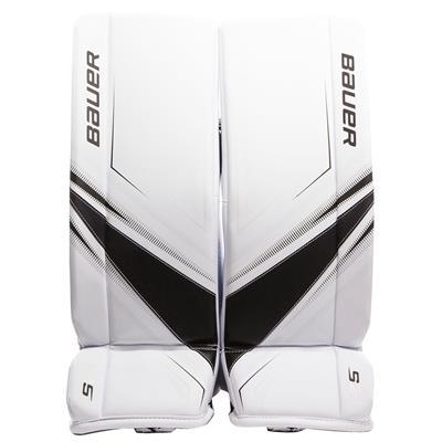 White/Black (Bauer Supreme S27 Goalie Leg Pads - Junior)