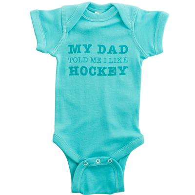 Green (Dad Told Me I Like Hockey Baby Onesie - Infant)