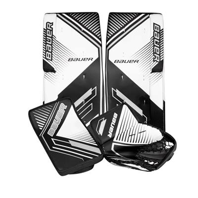 Black/Silver/White (Bauer Performance Street Goal Kit - Junior)