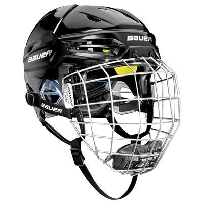 Black (Bauer Re-Akt 95 Hockey Helmet Combo)