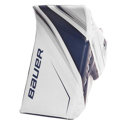 White/Blue (Bauer Supreme 2S Pro Goalie Blocker - Senior)