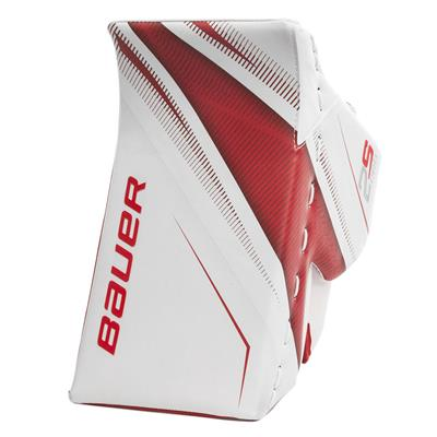 White/Red (Bauer Supreme 2S Pro Goalie Blocker - Senior)