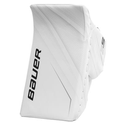 White/White (Bauer Supreme 2S Pro Goalie Blocker - Senior)