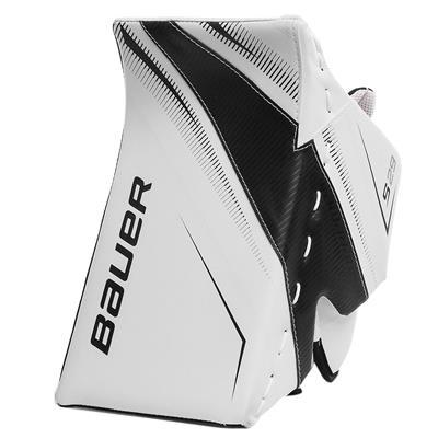 White/Black (Bauer Supreme S29 Goalie Blocker - Intermediate)