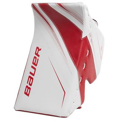 White/Red (Bauer Supreme S29 Goalie Blocker - Intermediate)