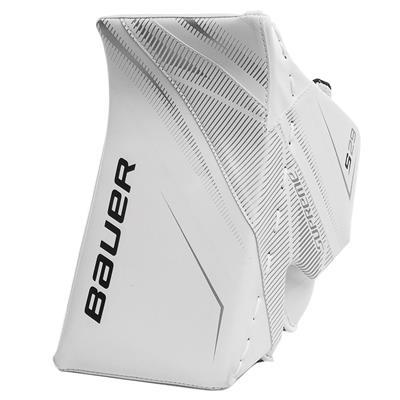 White/White (Bauer Supreme S29 Goalie Blocker - Intermediate)