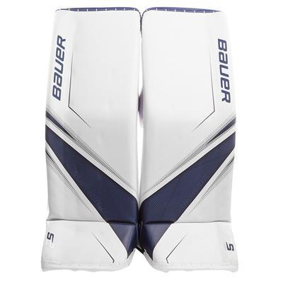 White/Blue (Bauer Supreme 2S Pro Goalie Leg Pads - Senior)