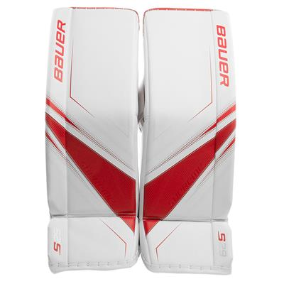 White/Red (Bauer Supreme S29 Goalie Leg Pads)