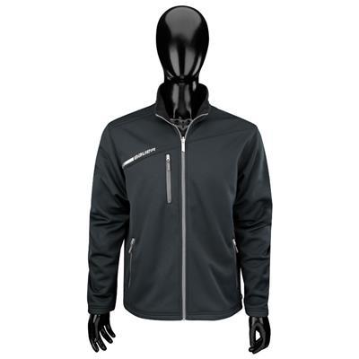 Black (Bauer Flex Full Zip Tech Hockey Fleece)