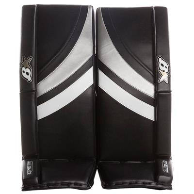 Black/White/Silver (Brians GNETiK Pure Goalie Leg Pads - Senior)