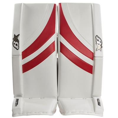 White/Red (Brians GNETiK Pure™ Goalie Leg Pads - Senior)