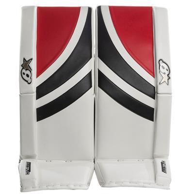 White/Black/Red (Brians GNETiK Pure™ Goalie Leg Pads - Intermediate)