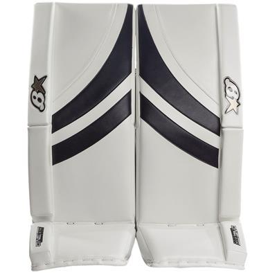 White/Navy (Brians GNETiK Pure™ Goalie Leg Pads - Intermediate)