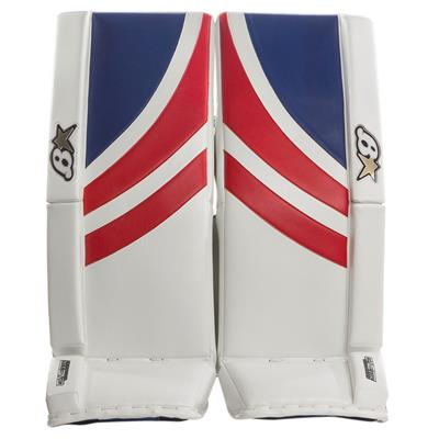 White/Blue/Red (Brians GNETiK Pure Goalie Leg Pads)