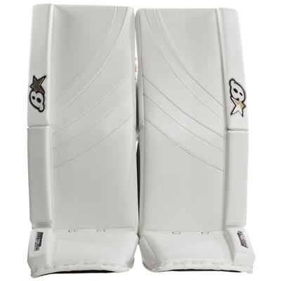 White/White (Brians GNETiK Pure Goalie Leg Pads - Junior)