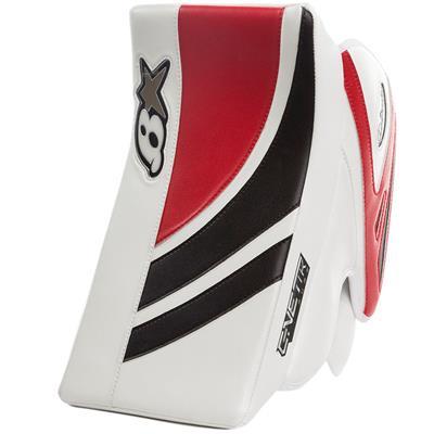 White/Black/Red (Brians GNETiK Pure Goalie Blocker - Senior)