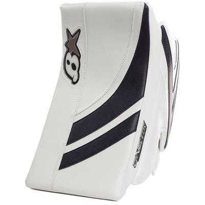White/Navy (Brians GNETiK Pure Goalie Blocker - Senior)