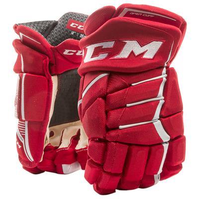 Red/White (CCM JetSpeed FT390 Hockey Gloves - Junior)
