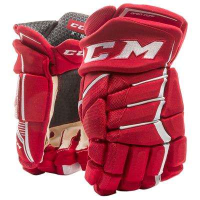 Red/White (CCM JetSpeed FT390 Hockey Gloves - Senior)
