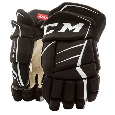 Black/White (CCM JetSpeed FT350 Hockey Gloves - Senior)