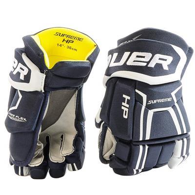 Navy (Bauer Supreme HP Hockey Gloves - 2017 - Senior)