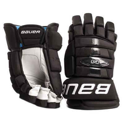 Black (Bauer Nexus Pro Hockey Gloves 16 - Senior)