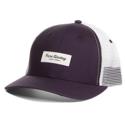 (Pure Hockey Mesh Back Script Hat Navy - Youth)
