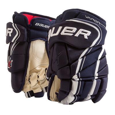 Navy (Bauer Vapor 1X Lite Pro Hockey Gloves - Senior)