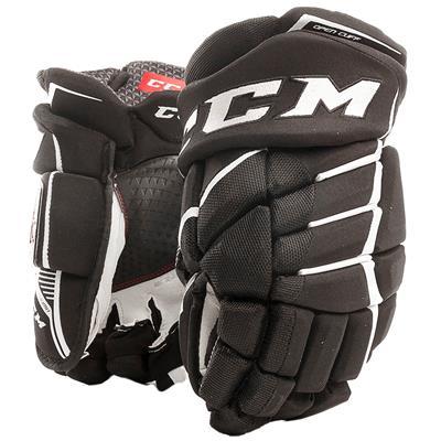 Black/White (CCM JetSpeed FT390 Hockey Gloves - Junior)