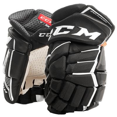 Black/White (CCM JetSpeed FT1 Hockey Gloves - Senior)