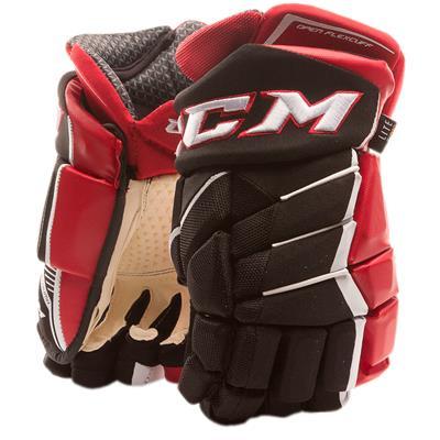 Black/Red/White (CCM JetSpeed FT1 Hockey Gloves - Senior)