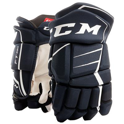 Navy/White (CCM JetSpeed FT350 Hockey Gloves - Junior)