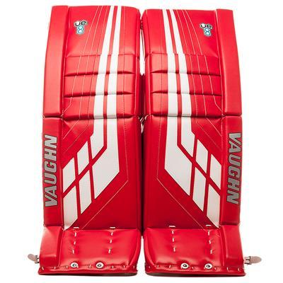 Red/White (Vaughn Velocity VE8 XFP Goalie Leg Pads - Intermediate)